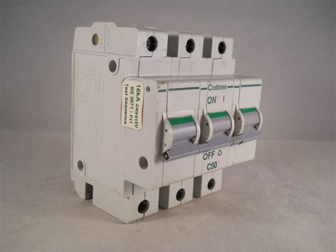 Murah Mcb 1 Phase 1phase 1pole 50a 63a Merk Abb crabtree polestar mcb 50 type c 50a pole 3 phase breaker 63c 50 willrose electrical