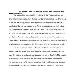 Save Tree Save Essay by Comparing And Contrasting The Poems The Trees By Phillip Larkin And The Trees Are By