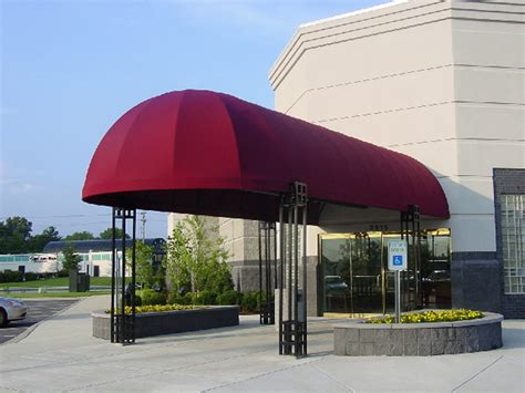business awning bull nose entrance canopy 502 634 1877 bluegrass awning company