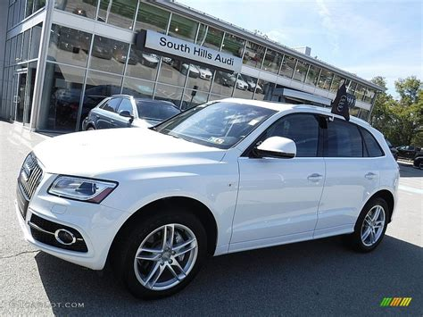 White Audi Q5 by 2016 Glacier White Metallic Audi Q5 3 0 Tfsi Premium Plus