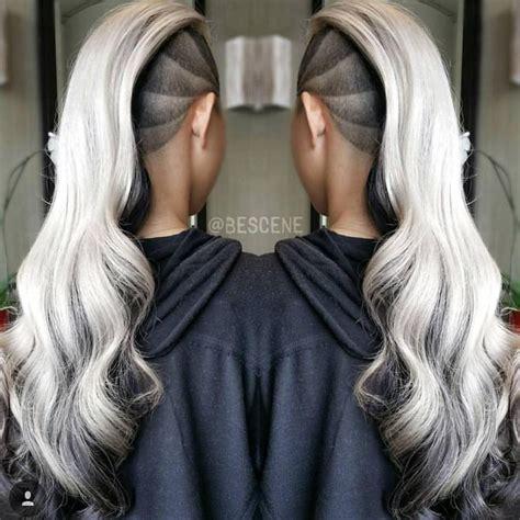 pattern grey hair best 25 side shave design ideas on pinterest undercut