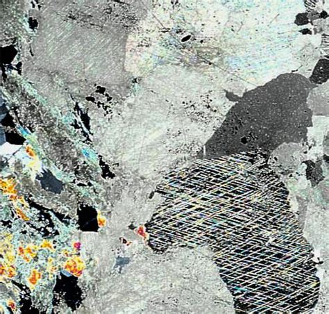 dolomite thin section dolomite with fuchsite