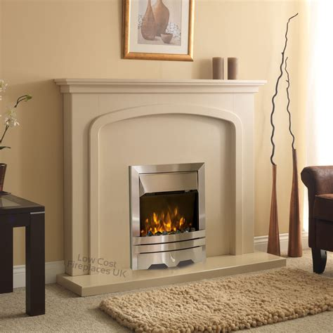 Silver Fireplace by Electric Surround Silver Wall Mounted Fireplace Set Suite Large 54 Quot Ebay