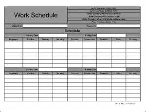 Work schedule form preview of the personalized wide row biweekly work