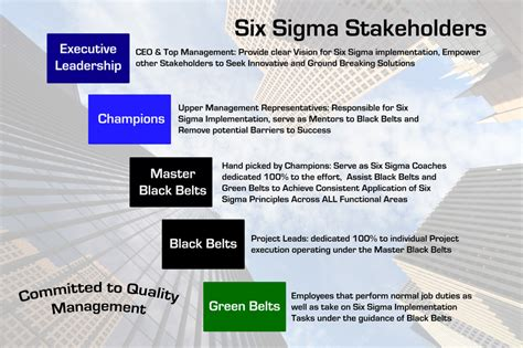 colors of lean the roles of different belt colors in six sigma