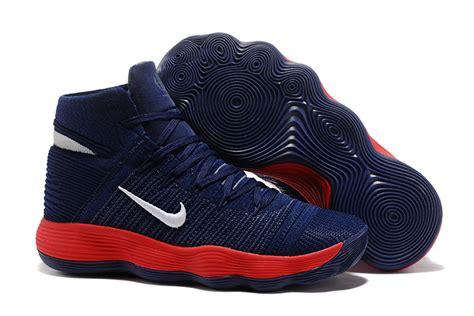 design nike basketball shoes advanced design nike hyperdunk 2017 flyknit navy blue