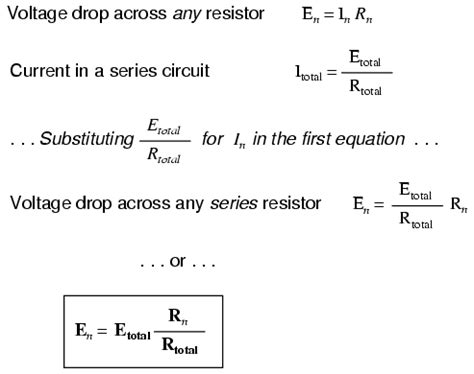 voltage drop across resistor formula voltage divider circuits divider circuits and kirchhoff s laws electronics textbook