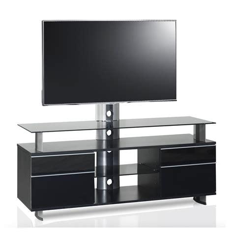 Meuble Tv Design Noir Noir 140 cm GLD 140H SBB   Premium