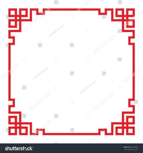 china border frame vector stock vector 467265428