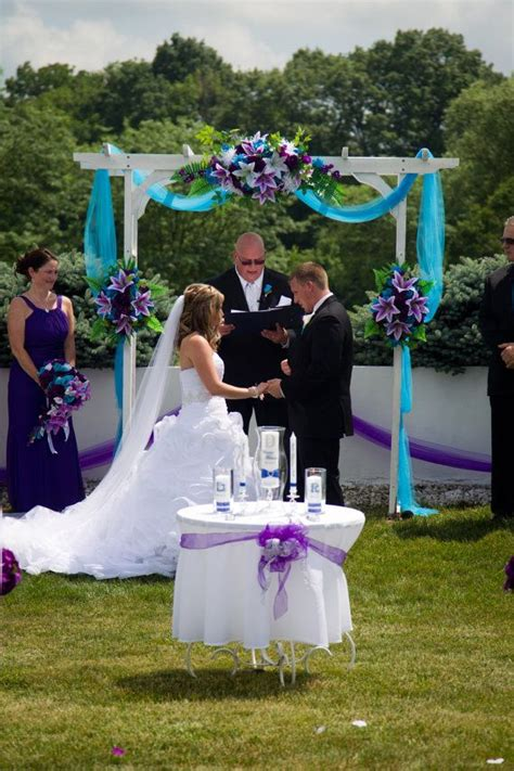 3pc set arch decoration wedding events turquoise and purple white wedding ideas wedding