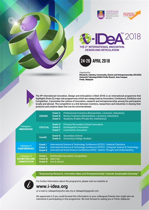 design competition malaysia 2018 the 4th international inovation design and articulation