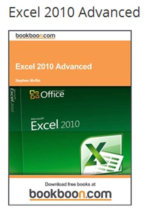 excel 2010 advanced tutorial pdf free pdf books to learn ms office 2010