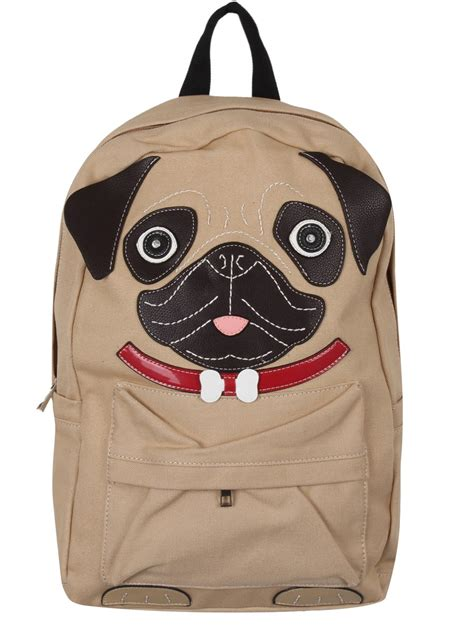 pug backpack pug puppy canvas backpack buy at grindstore