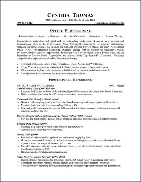 administrative assistant resume objective exles executive administrative assistant resume objective