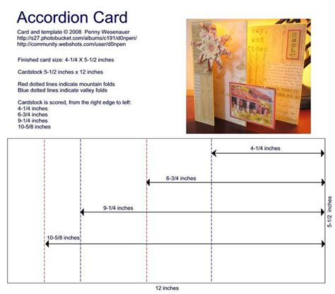 Templates For Accordian Cards Whcc by Accordion Card Template Card Templates