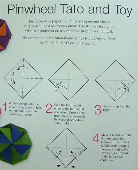 How To Make Origami Pinwheel - tato and origami containers