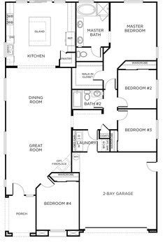 4 bedroom rectangular house plans 1000 images about and home it begins on pinterest
