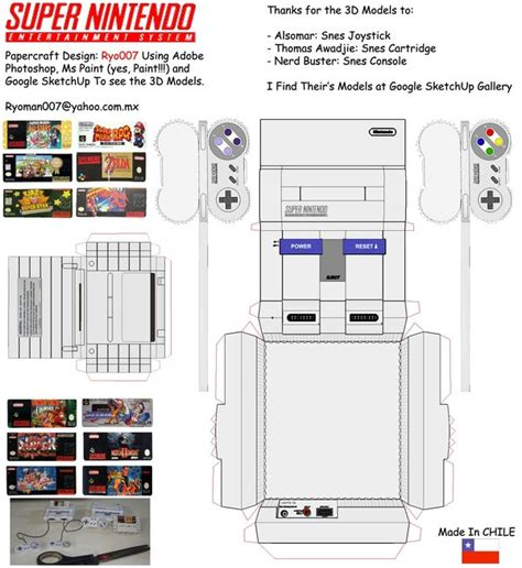 Nes Papercraft - snes papercraft set by ryo007 on deviantart