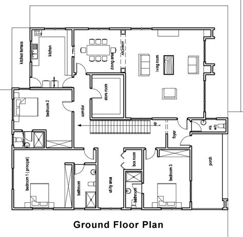 Home Floor Plans Design by Ghana House Plans Chaley House Plan