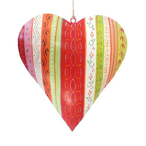 dekor herzen kunstschmiede neumeier burgau bunte metallherzen und