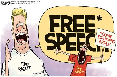 Today S Cartoon Personal Liberty 174 Free Speech