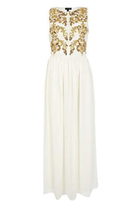 Golden Maxy 4 white and gold white and gold maxi dress