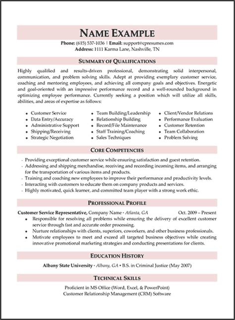 customer service resume templates skills customer professional resume writing services careers plus resumes