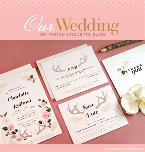 Wedding Invitations Etiquette by Wedding Invitations Etiquette Guide Botanical