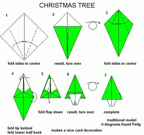 How To Make Tree Origami - year 6 december 2012