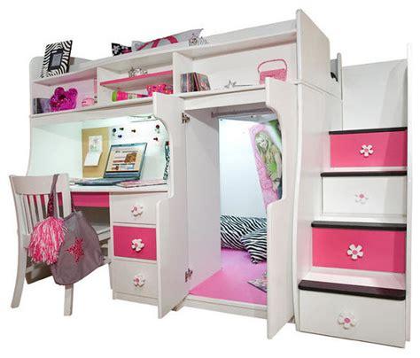 twin size loft bed elena s twin size secret stairway loft bed contemporary