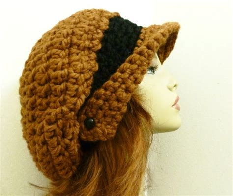 pattern crochet hat with brim crochet hat pattern pdf for winged brim slouchy by