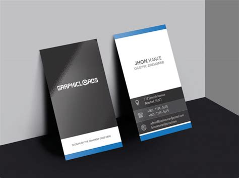 verticle business card template 18 best free business card templates graphicloads
