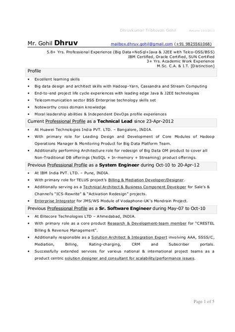 sle resume for java developer 2 year experience java j2ee resume sle 100 images how to write a resume