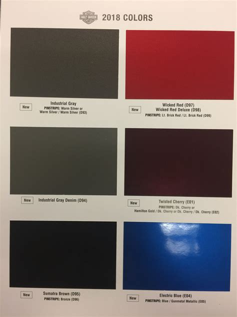 paint colors harley davidson 53 2016 harley davidson color chart cupo