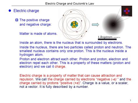 Charge Of A Proton In Coulombs by Electric Charge And Coulomb S Ppt