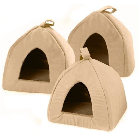 cat igloo bed alex griffiths cosipet igloo faux suede cat dog bed tan 16