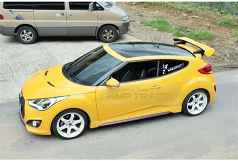 2013 Hyundai Veloster Accessories by Aero Parts Rear Wing Spoiler Unpainted For Hyundai 2013