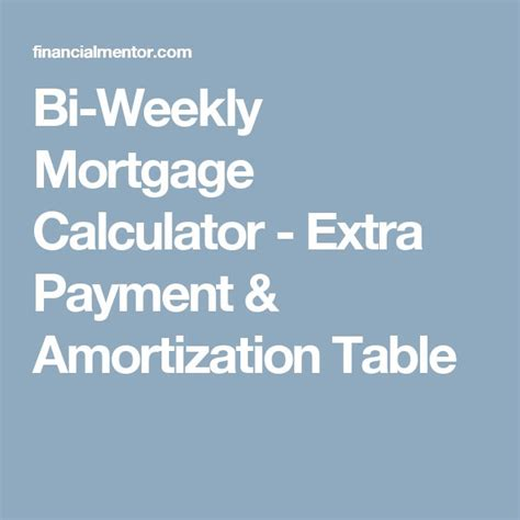 Bi Weekly Mortgage Calculator Extra Payment | 1000 ideas about mortgage calculator on pinterest