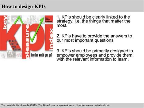 design engineer kpi engineering kpi exles