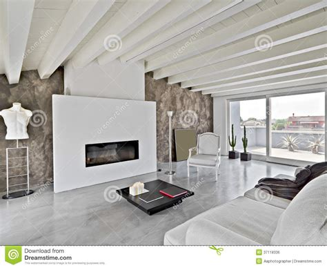 libreria athena modena moderne woonkamer in de zolder stock foto afbeelding