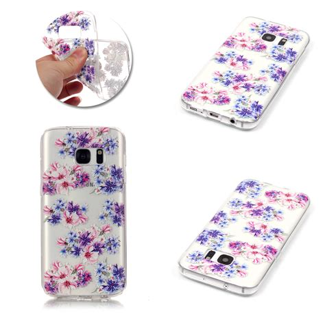 Tpu Flower Samsung S8 Edge S8 Plus Soft Casing Back Cover Bumper slim flower patterned silicone soft tpu back cover for samsung s8 plus s7