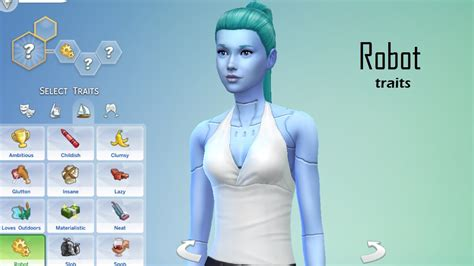 mod the sims robot traits 5 flavors mod the sims robot traits 5 flavors