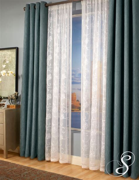 double curtain rod ideas softline home fashions contemporary curtains