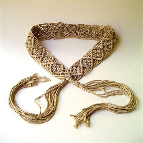 macrame belt 70s vintage boho macrame belt macrame belts macrame