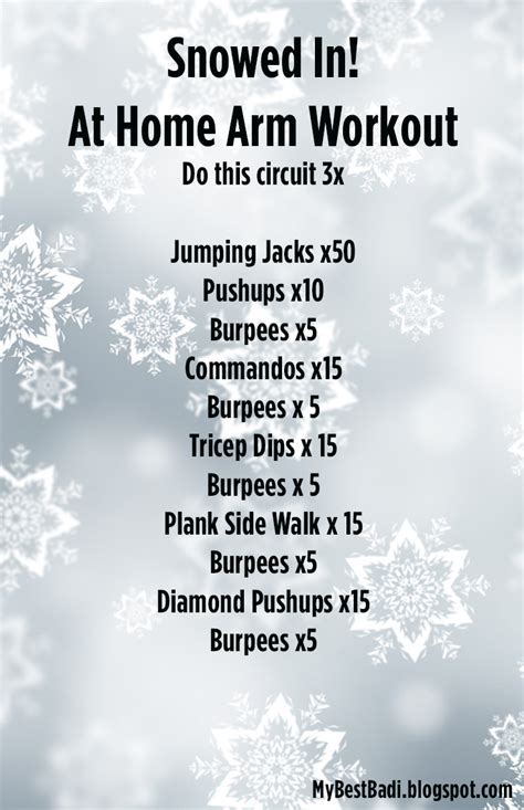 snowed in workout no equipment required