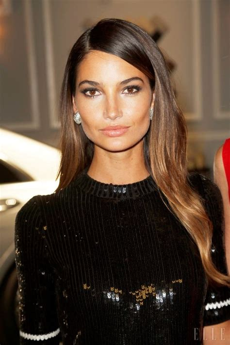 ecaille hair brunette lily aldridge reminds us of jackie o a little hello