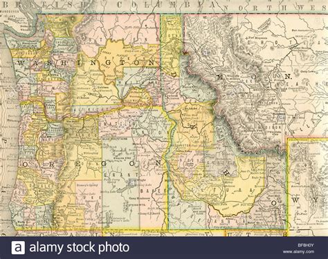 map of nw usa original map of northwest united states from 1884
