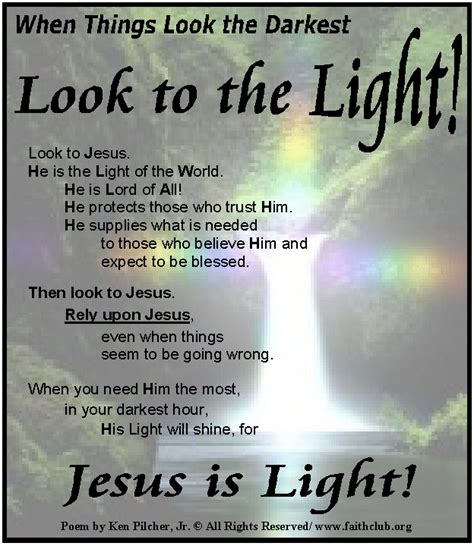 jesus poem jesus is the light of the world poem jesus you poem