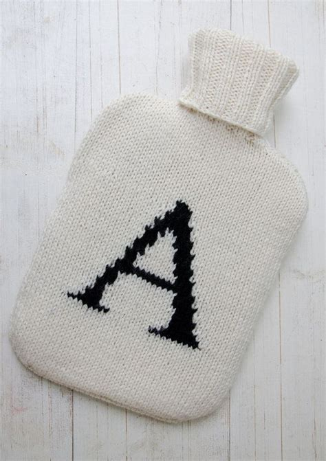 knitted patterns personalized water bottle cover knitted personalized initial