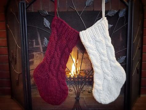 pattern for cable knit christmas stocking super cabled christmas stocking knitting patterns and